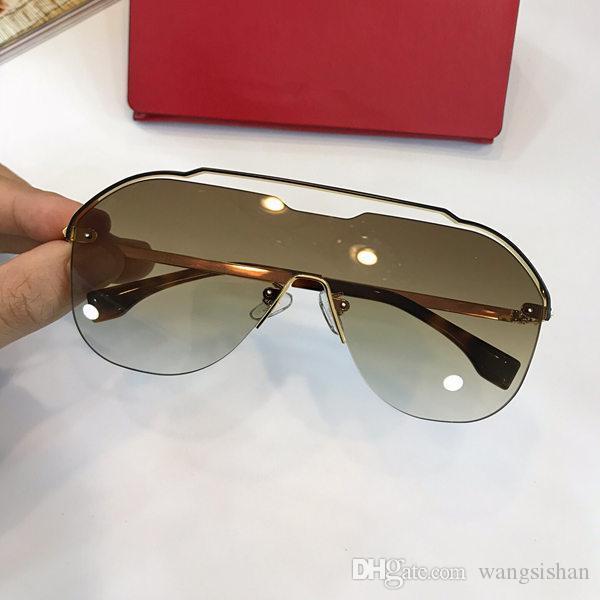 aa44e06c24 Luxury Mens Brand Designer Sunglasses 0030 Frameless Monolithic ...