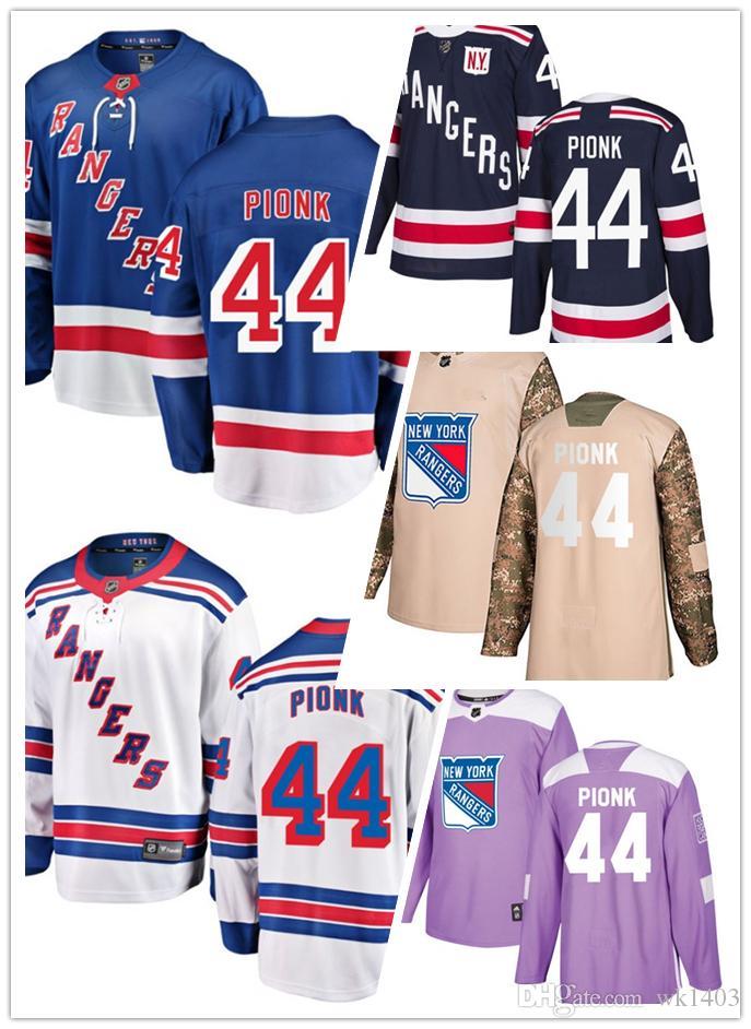 Compre Camisas New York Ranger   44 Neal Pionk Jersey Hóquei Homens  Mulheres Jovens Branco Azul Marinho Casa Longe Fanáticos Stiched Inverno  Clássico ... 8fae6892fe0f0