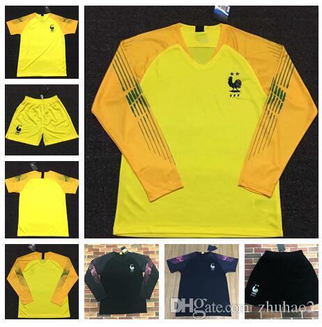 11882db0244e2 2018 2019 maillot de football Hugo LLORIS 1 maillots de football LEMAR kits  VARANE POGBA maillots de gardien de but manches longues