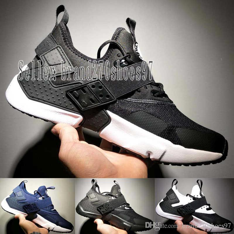 buy online ae385 a2aed 2019 New Huarache 6 X Fragment Design MID Leather Huaraches Ultra Sport  Running Shoes Men Women Huraches Designer Sneakers Hurache Size 7 11 From  ...