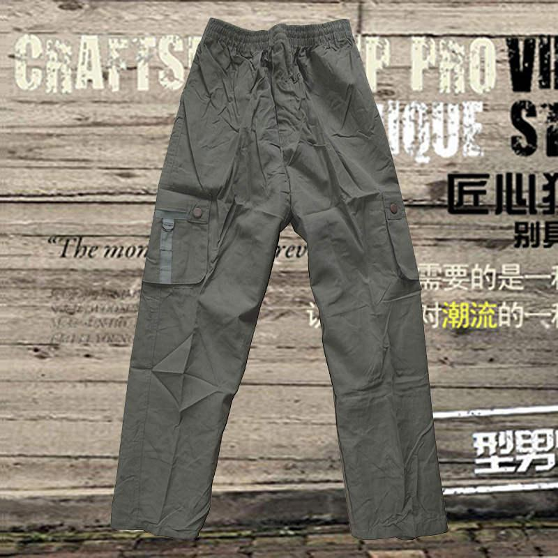 a5c93db11 Outdoor Leisure Multi-pocket Trousers Xia Chunqiu Men's Clothing ...