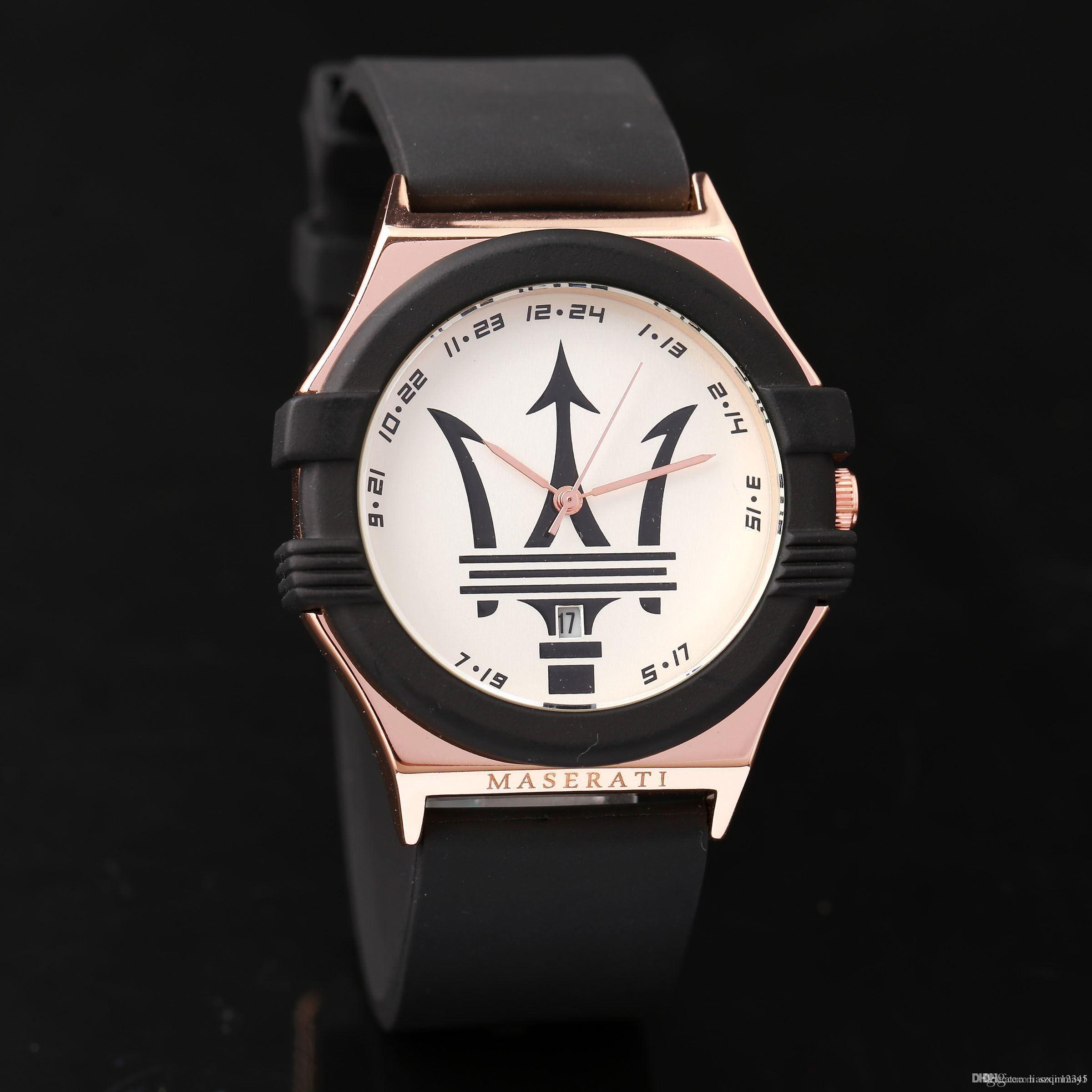 2017 maserati Casual Leather Watches VOLARE Women men Busines Quartz Watch  wristwatches