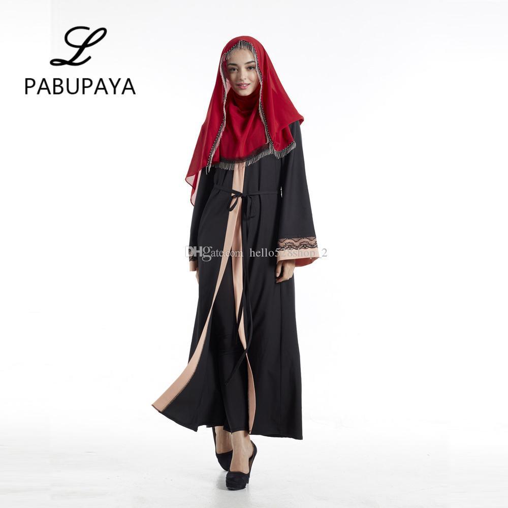 8d7bbef2d62a Acquista Costumi Arabi Turchia Medio Oriente Abbigliamento Cardigan Gonna  Lunga Cardigan Musulmano Capispalla Lunga Da Donna Abiti Islamici Dubai A   18.5 ...