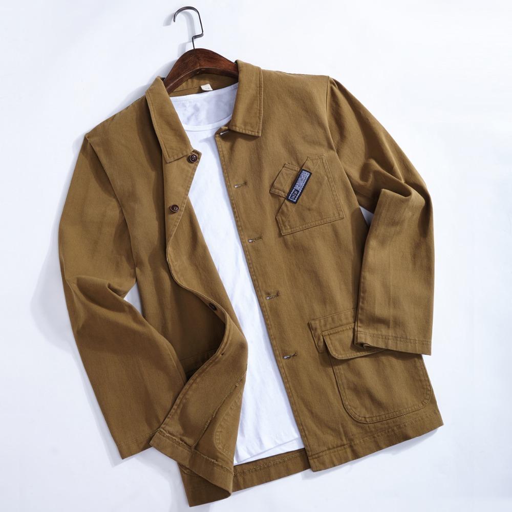 Winterjas 2019.2019 Safari Style Autumn And Winter Cotton Jackets Men Casual