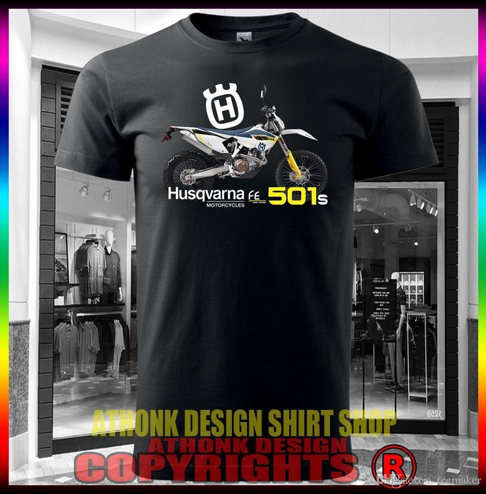 32d26ff9f Fashion Summer Paried Tshirts Husqvarna Fe501S Dirt Bike T Shirt Summer Short  Sleeves Cotton T Shirt Funny T Shirts Cheap As T Shirts From Lijian73, ...