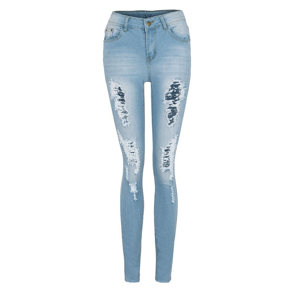de1e07a95ab5a Vintage Women's Skinny Stretchy Jeans Leggings Pants Casual High Waist  Stretch Slim Sexy Pencil Pants Ripped Jeans For Ladies