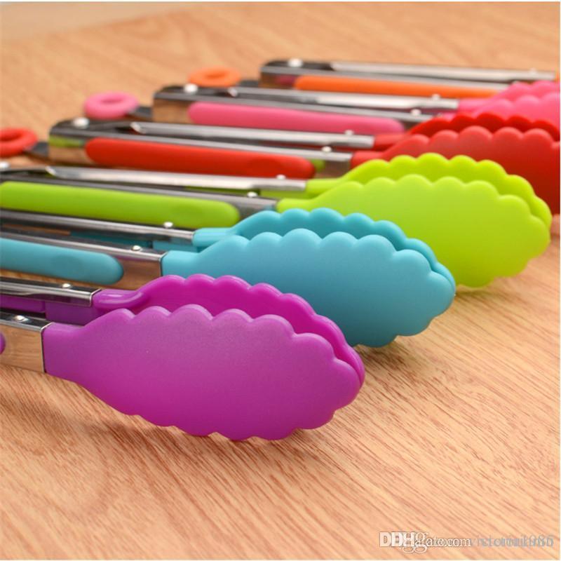Kitchen Goods 20cm Kitchen Accesorios De Cocina Stainless Steel Silicone  Food Clip Kitchen Gadgets Mutfak Aksesuarlari Cocina. Q