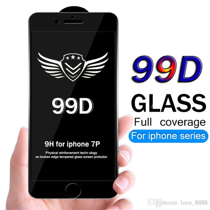 99D Protective Glass For iPhone 6 6S 7 8 plus X XR XS MAX Glass on iphone 7  6 X Screen Protector iPhone 7 plus Screen Protection Film