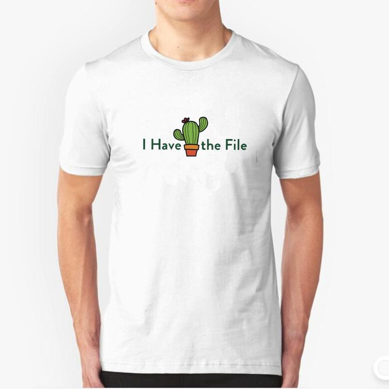 aa337cd7d The Good Place Tv T Shirt Men Funny Printed I Have The File Cactus T Shirt  The Bad Place Good Janet Tee Shirt Everything Is Fine Of T Shirt T Shirt On  ...