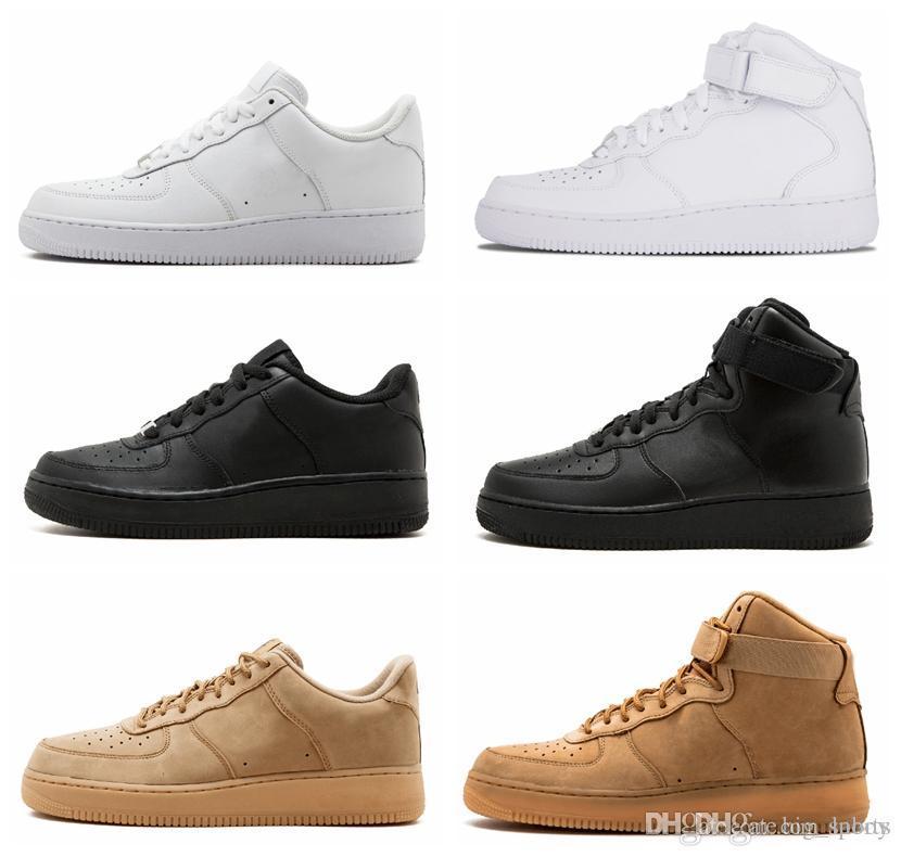 best authentic 974ba 1f603 Acheter Nike Air Force Forces Off 2019 Chaude Classique Forçant Blé Bas  Haut Ligne Mouche Ligne Hommes Femmes Sports Sneakers Entraîneurs  Chaussures De ...