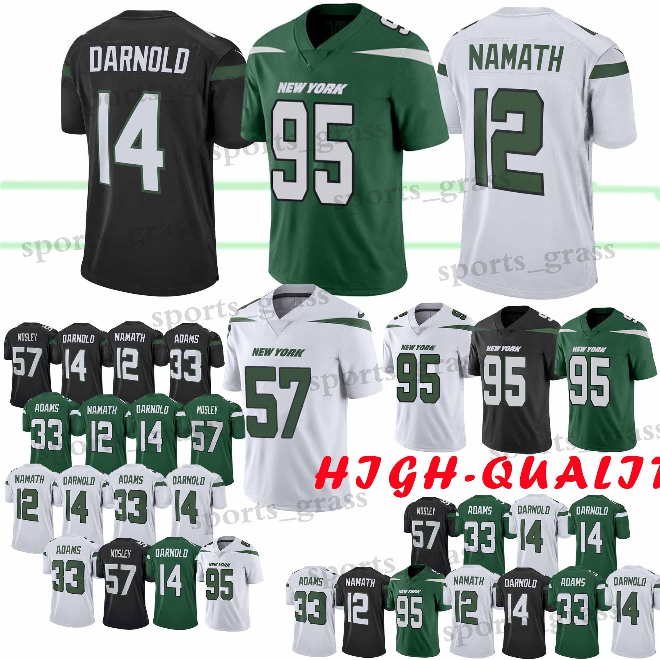 pretty nice 8ae43 240bf 33 Jamal Adams 95 Quinnen Williams York Jets jersey 26 Le'Veon Bell 14 Sam  Darnold 12 Joe Namath Football Jerseys