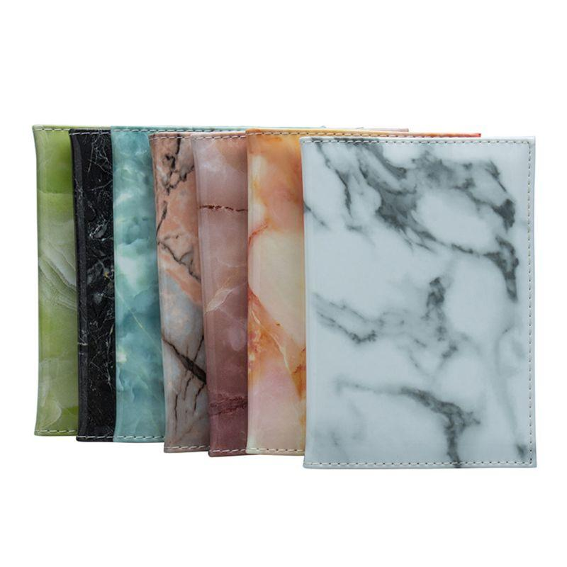 ca49aec20c4e Hot PU Leather Marble Pattern Passport Holder Traveling Cover Case Card ID  Holders Bag Protector New