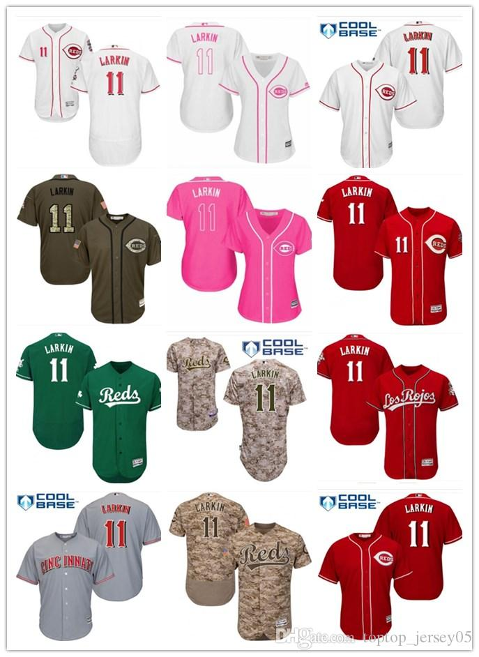 new product 2e567 d3f89 2018 top Cincinnati Reds Jerseys #11 Barry Larkin Jerseys  men#WOMEN#YOUTH#Men's Baseball Jersey Majestic Stitched Professional  sportswear