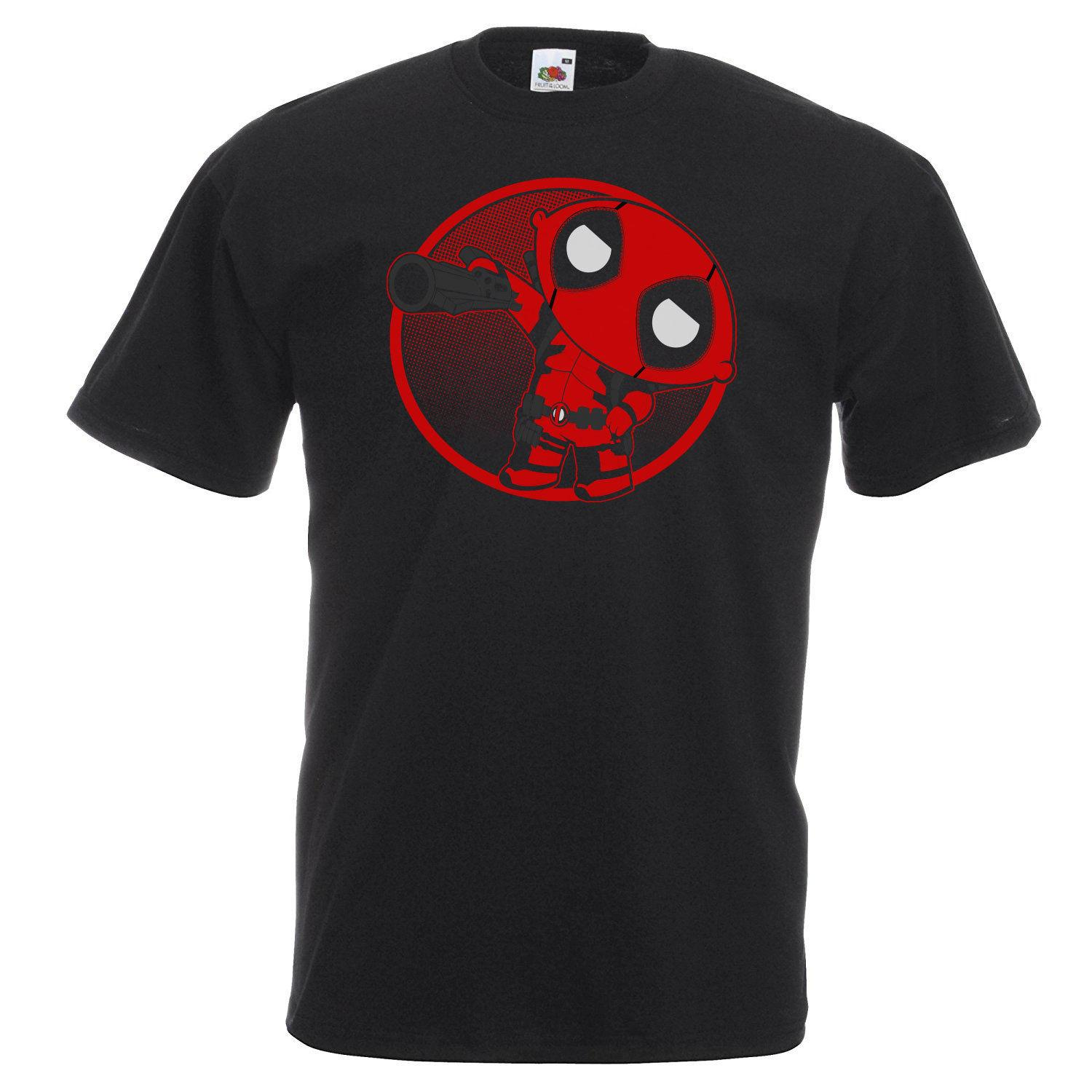 921521ad62061 Men's Deadpool Stewie Griffin T-Shirt Funny Mash Up Shirt Gift IdeaFunny  free shipping Unisex Casual gift