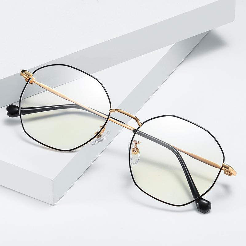 2018 Retro Computer Glasses Frames Thin Gold Frame Anti Blue Ray ...