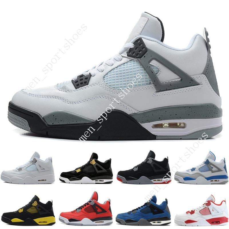 6e5458c3baffec 2018 4 4s Mens Basketball Shoes Game Royal Fire Red White Cement Pure Money Black  Cat Bred Oreo Fear Pack Royalty Toro Bravo Cavs Sports Sneakers From ...