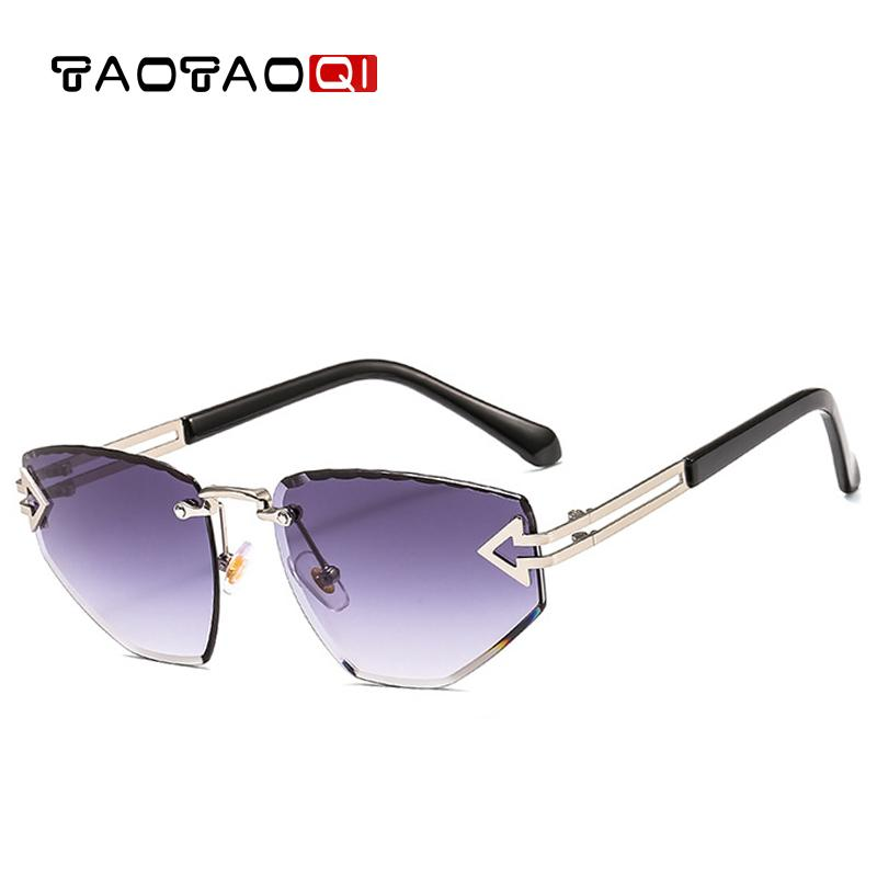fd064f62ab3 Wholesale Luxury Cat Eye Sunglasses Women Designer Brand Fashion Rimless  Arrow Sun Glasses Female UV400 Men Vintage Eyewear Canada 2019 From  Dushijewelry