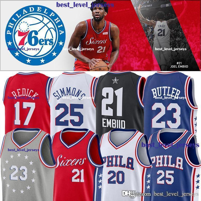 a6653cf6 2019 Hot Sale 76ers 21 Embiid 20 Markelle Jerseys 3 Iverson Jersey JJ 17  Redick Jimmy Jersey 23 Butler Ben 25 Simmons Jerseys Joel Hot Sale From ...