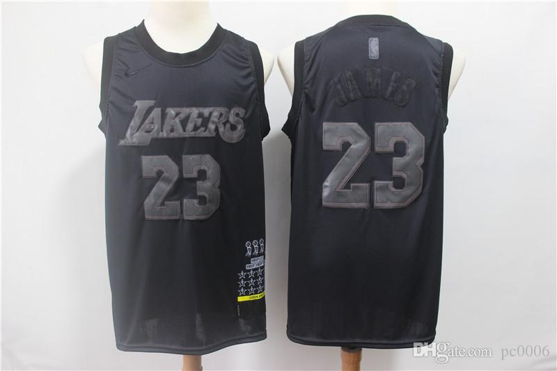 check out 311ea 1f8a8 Men's Los Laker #23 LeBron James Black MVP Swingman Jersey basketball