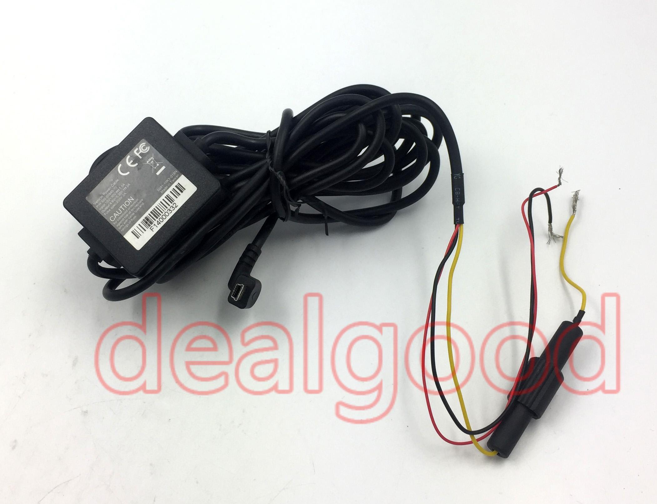 Vehicle Power Cable Data Sync Cable Garmin Input 10-30V/1 5A Output  4 6-5 35/2A Fuse spec 250V/2A