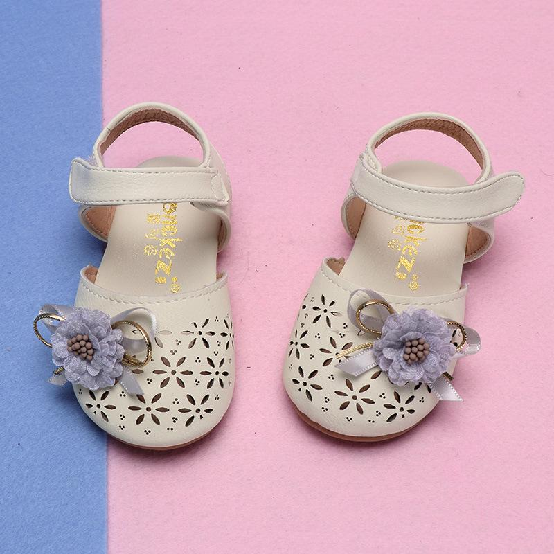 COZULMA Baby Girl Cut-out Sandal Shoes Toddler Kids Party Anti-slip Flower Bow Flat Shoes Baby Summer Enfants Size 15-25