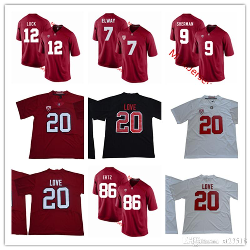 new styles f5b4e 34400 Stanford Cardinals Andrew Luck Football Jersey 5 Christian McCaffrey 9  Richard Sherman 86 Zach Ertz 20 Bryce Love Stanford Cardinals Jersey