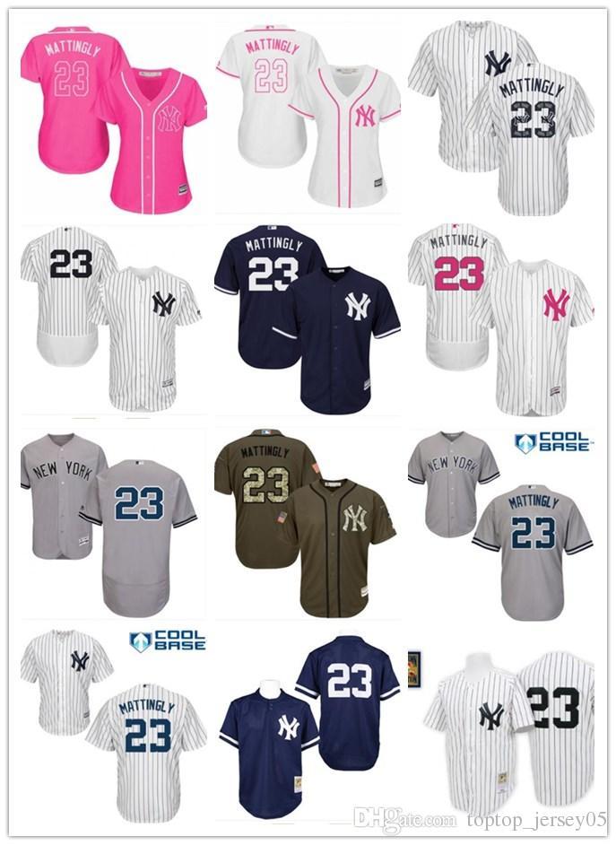 a2dfa214f 2018 Top New York Yankees Jerseys  23 Don Mattingly Jerseys Men ...