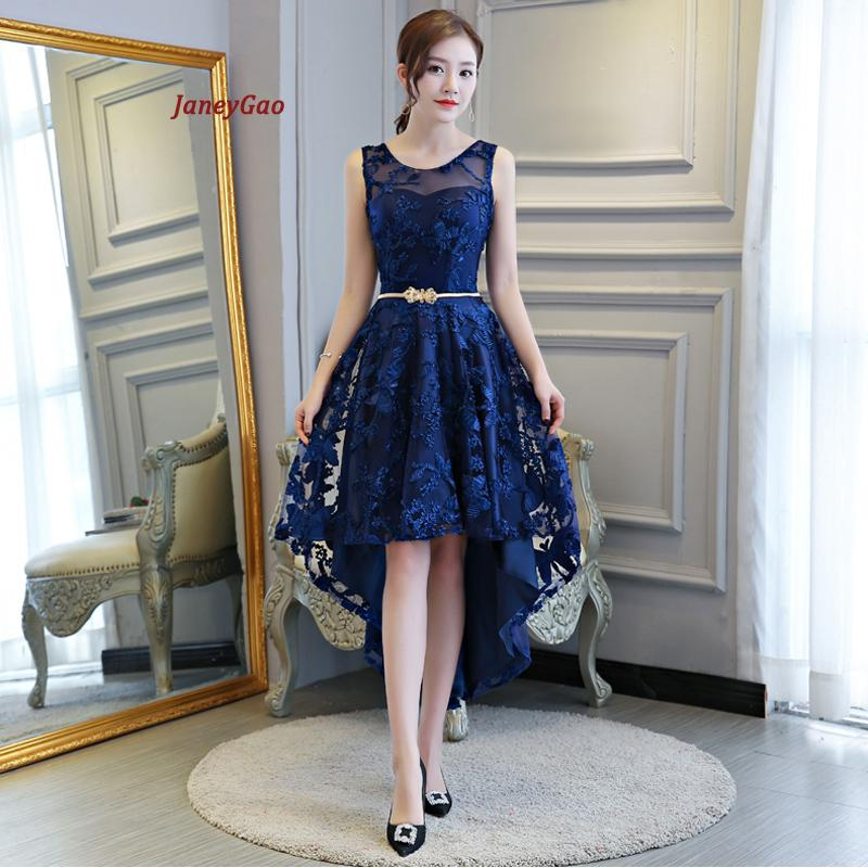 dddf0aaada3f4 Janeygao 2019 Short Prom Dresses For Women Elegant Styel Formal Gown Low  Hight Dress Front Short Back Long Royal Blue Prom Gown Y19042701