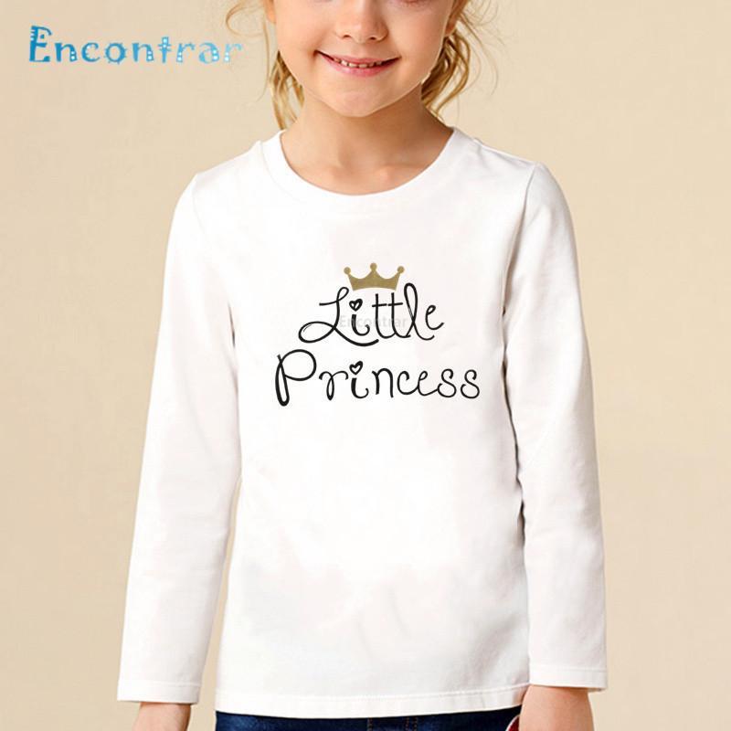 6e6a081f Kids Daddy's Little Princess Letter Print T shirt Children O-Neck Long  Sleeve Tops Baby Girls Casual Funny T-shirt,LKP5236
