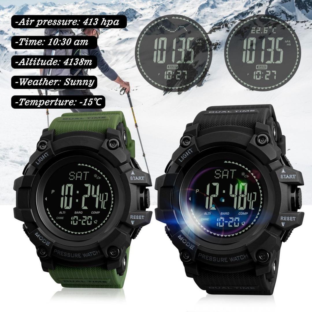 826dd13cc05 Compre SKMEI Mens Esportes Relógios Horas Calorias Pedômetro Digital  Assista Altímetro Barômetro Para Bússola Termômetro Tempo Homens Relógio De  Leight