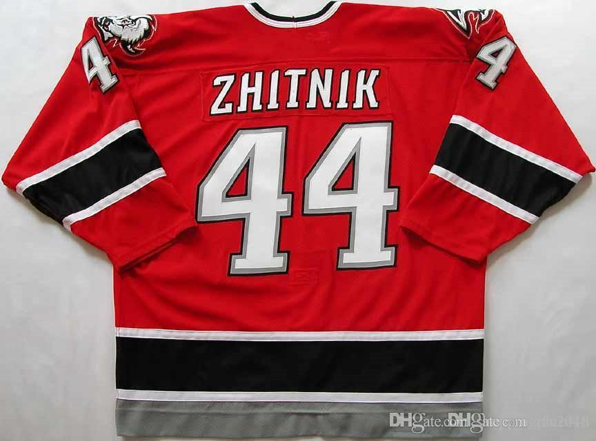 cheap for discount 42e6b caf50 Custom Men s 2000-01 #44 Alexei Zhitnik Buffalo Sabres Game Worn Jersey  Alternate Red Hockey Shirt Stitched Logos embroidered Customize