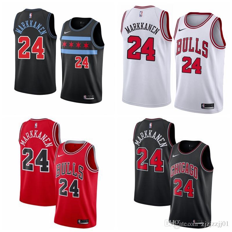 new styles e34fe ee7bd 2019 3 Wade Bulls Jersey The City Chicago 24 Markkanen 8 Zach LaVines  Basketball Jersey NEW