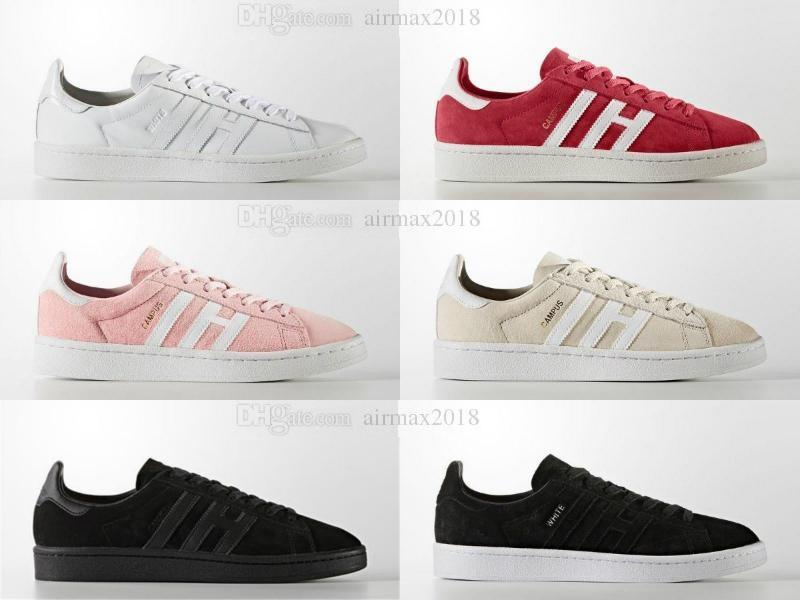 new concept 7ee20 31524 2018ert superstar Originals Campus Stan smith shoes for boy girl Men Women  with White Red Black Green stansmith speedcross star shoes