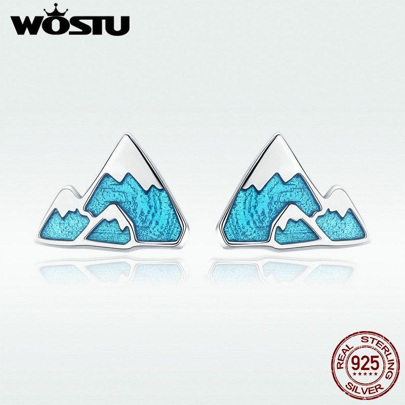 78d2ec484 2019 WOSTU 2018 New 100% 925 Sterling Silver Iceberg Mountain Stud Earrings  For Women Girlfriend Unique Classic Jewelry Gift DXE475 From Wonderliu, ...