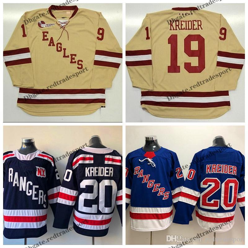buy popular 9df0f b9fa9 Mens Vintage BOSTON COLLEGE EAGLES CHRIS KREIDER Hockey Jerseys Cheap Cream  #19 CHRIS KREIDER Stitched College Hockey Shirts M-XXXL