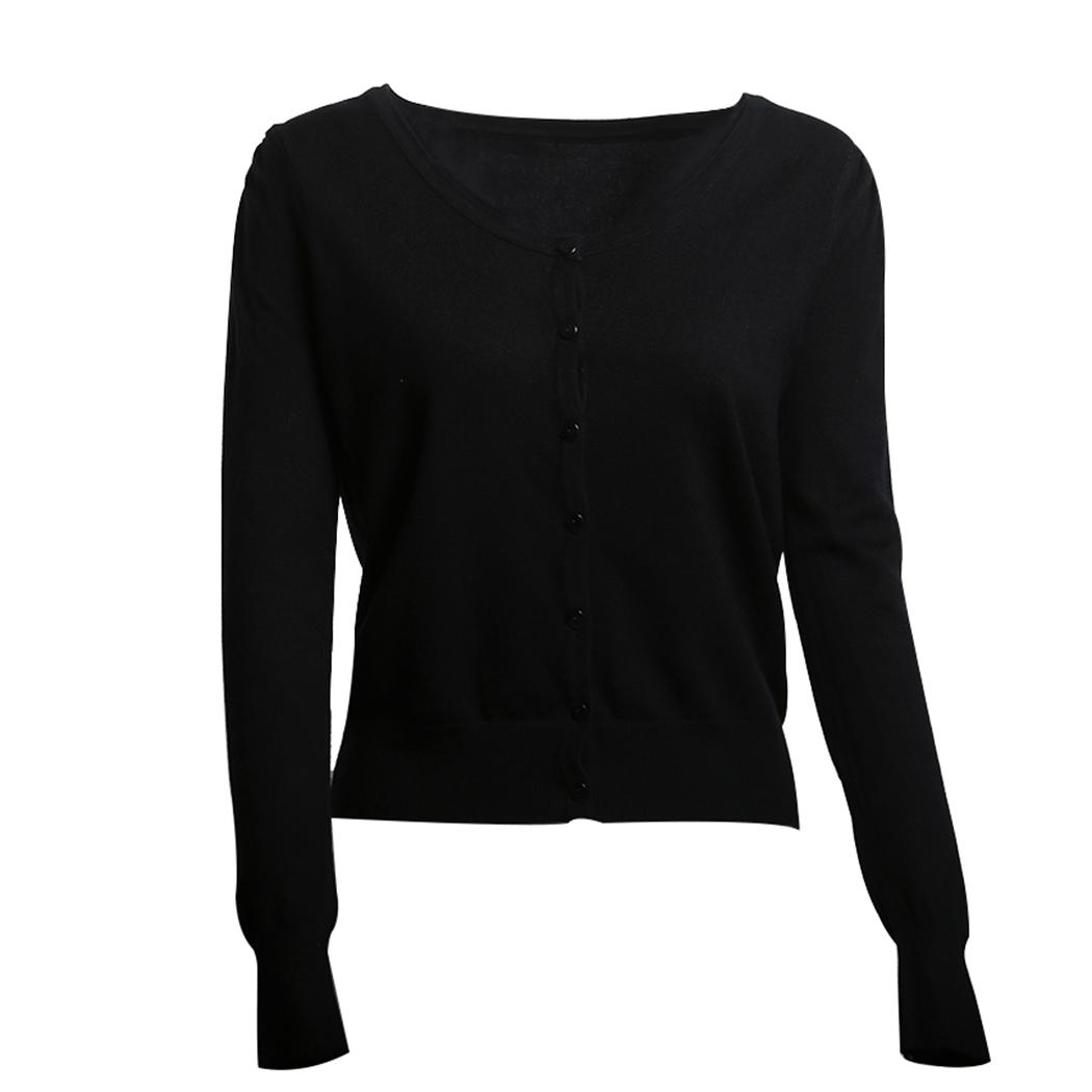 a576dce0ab48 2019 Women Button Knitted Cardigan Sweater Long Thin Ladies Sweaters ...
