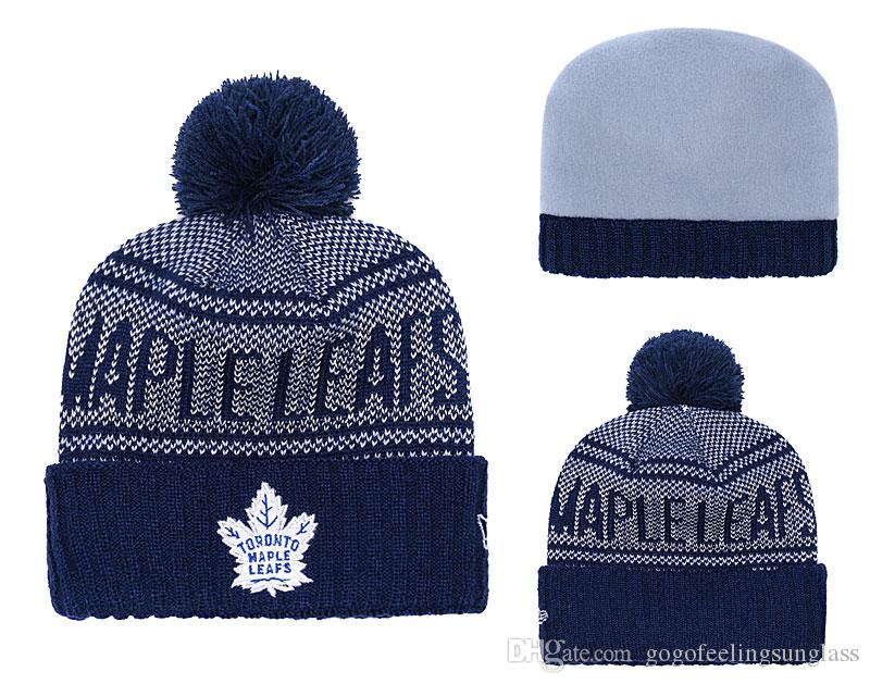 fa573754c888a Winter sports beanies 2019 high quality Newest Beanies TORONTO MAPLE LEAFS  Pom Knit Hats Sports Beanie Cap Beanies Hat Mix More 5000 Styles