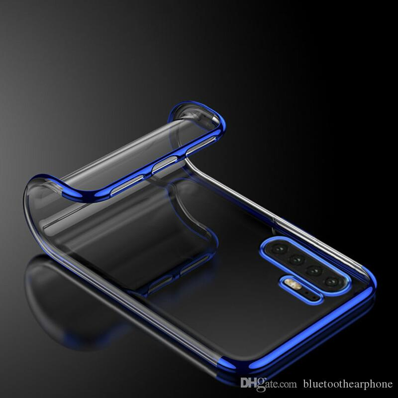 Plating Soft TPU clear Cases For Huawei P Smart Y9 2019 P30 Pro Honor 8X  lite 8A Honor Mate RS Nova4 Phone Case