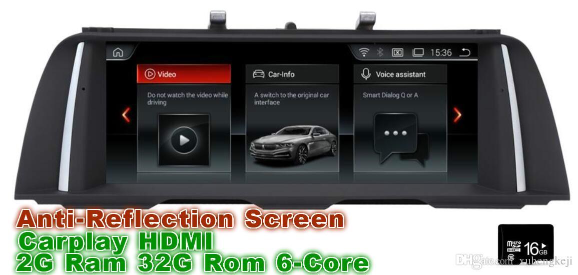 Carplay HDMI 10 25 inch Android 8 1 Car Dvd Gps Navi Audio for BMW 5 Series  F10 F11(2011-2012) HD1028*480 , iDrive MMI OBD inside steering