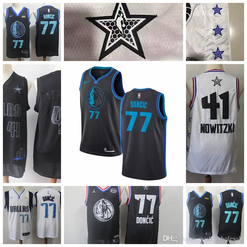 watch 5e267 06572 Dallas Maverick Jersey Black Luka Doncic Kristaps Porzingis Basketball  Jerseys Retro Mesh Mavericks Blue Dirk Nowitzki Doncic