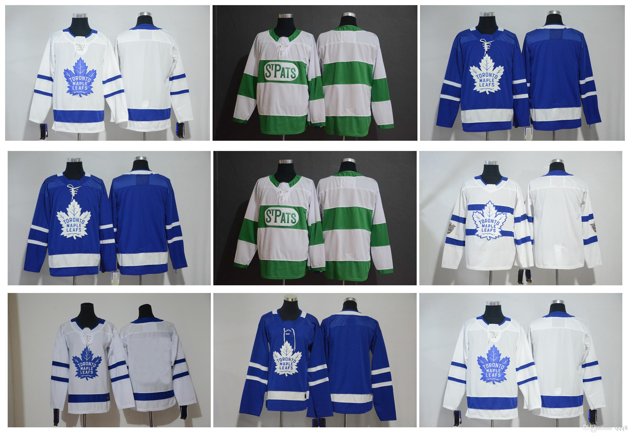 cheap for discount 28fdf cc764 2019 St. Pats Green Jersey Toronto Maple Leafs Stadium Series Men Kids  Women s Blank No Name Number Blue Green White Stitched Hockey Jersey