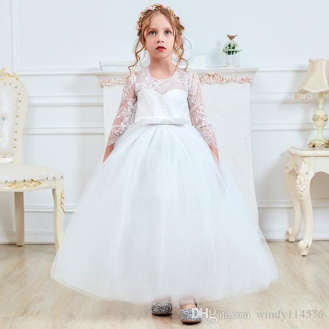 b265f956b945 2019 My Princess Fancy Kids Bridesmaid Long Lace Girls Dress For Wedding  Pageant Party Communion Teen Girl Clothes Formal Dresses XF134 From  Windy114576, ...