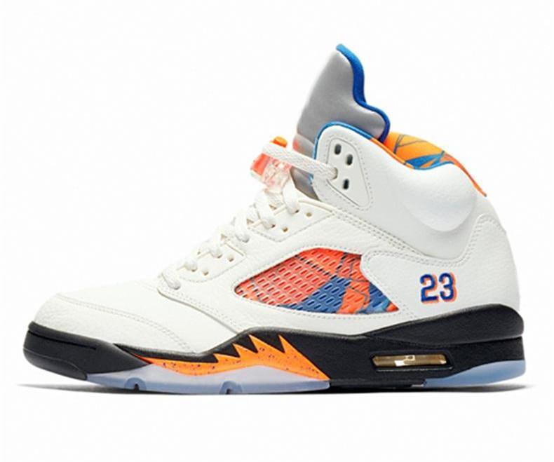 5469c05b663 2019 New Wings 5 5s Basketball Shoes Black Grape Black White Reflective  Camo Oreo White Cement Fire Red Designer Sneakers 40-47 Lzfshop Camo Oreo  Basketball ...