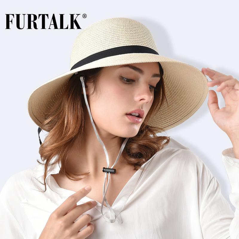 d8c6a85efb5 FURTALK Straw Hat For Women Sun Hat Panama Summer For Girls Beach Hats  SH022 Hats For Women Trilby Hat From Mantous