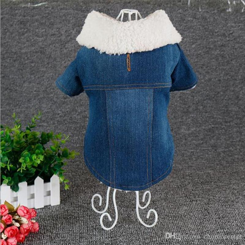 Quality Dog Coat Christmas Clothes Pet Denim Jacket Clothe Fleece Apparel Costume Coat Dog Pet Winter Clothing for Dog warm clothing PD050