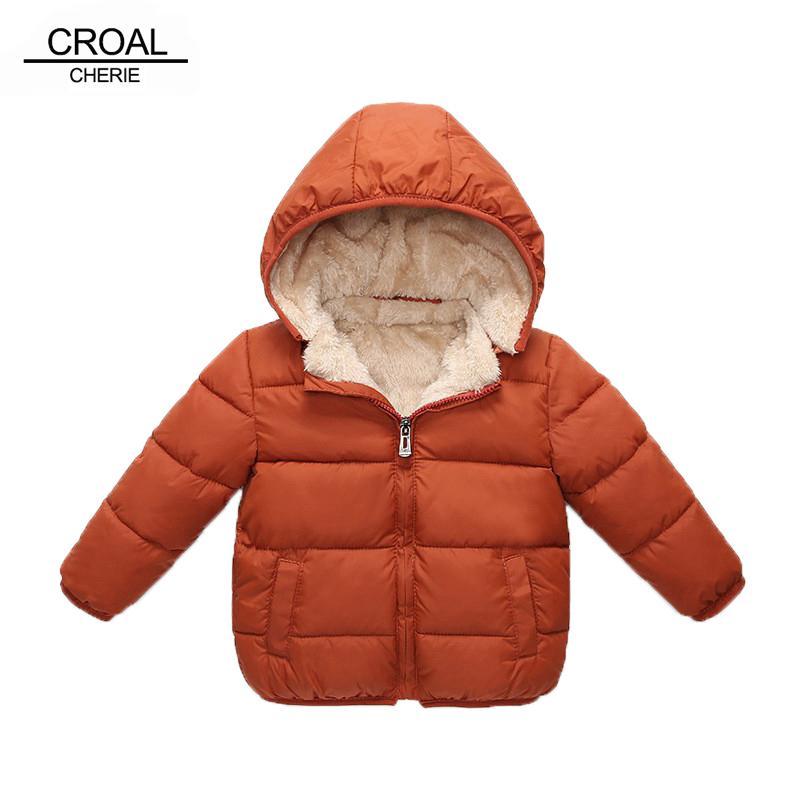 adc7b2df3 CROAL CHERIE Chaqueta de invierno Parkas para niños para niñas niños Abrigo  de invierno Niños cálidos de terciopelo grueso con capucha bebé ...
