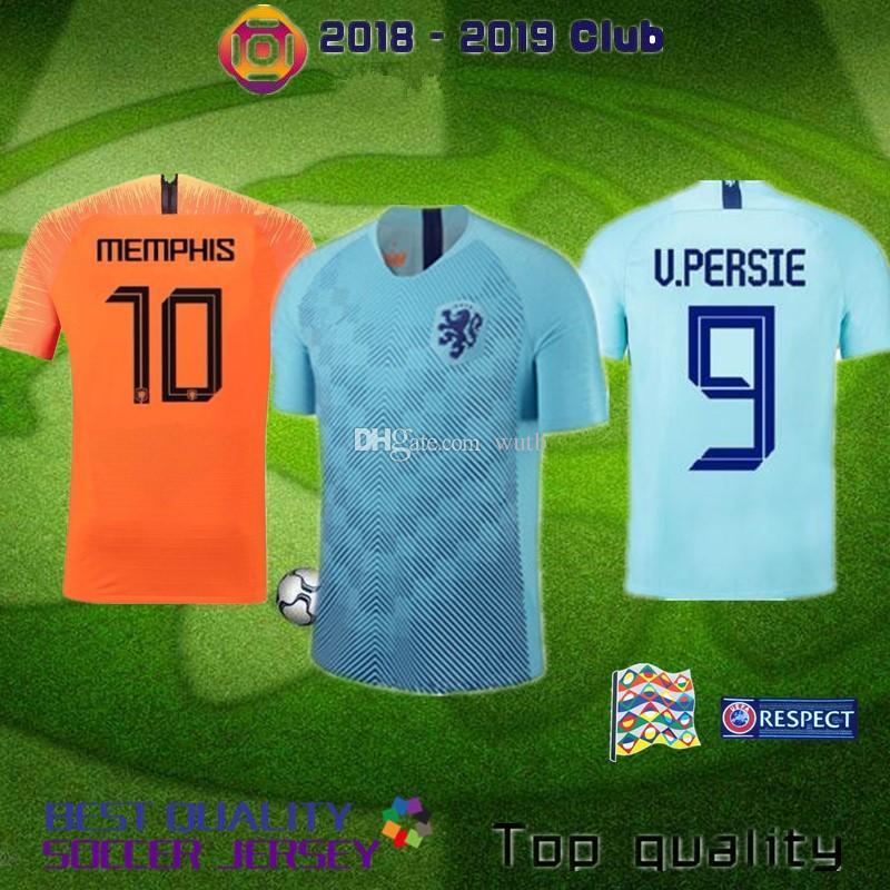 33cfbf807 2019 2018 2019 Nederland Soccer Jersey Home Away Orange Netherland JERSEY  ROBBEN SNEIJDER 18 19 Thai Quality V.Persie Dutch Football Shirts From  Wutb, ...