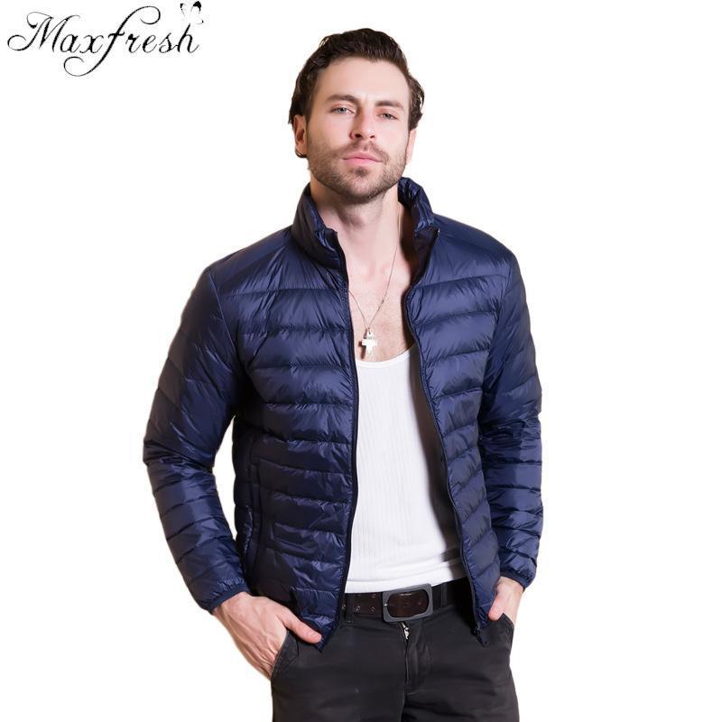 1493b516fba 2019 Maxfresh New Autumn Winter Man Duck Down Jacket Ultra Light ...