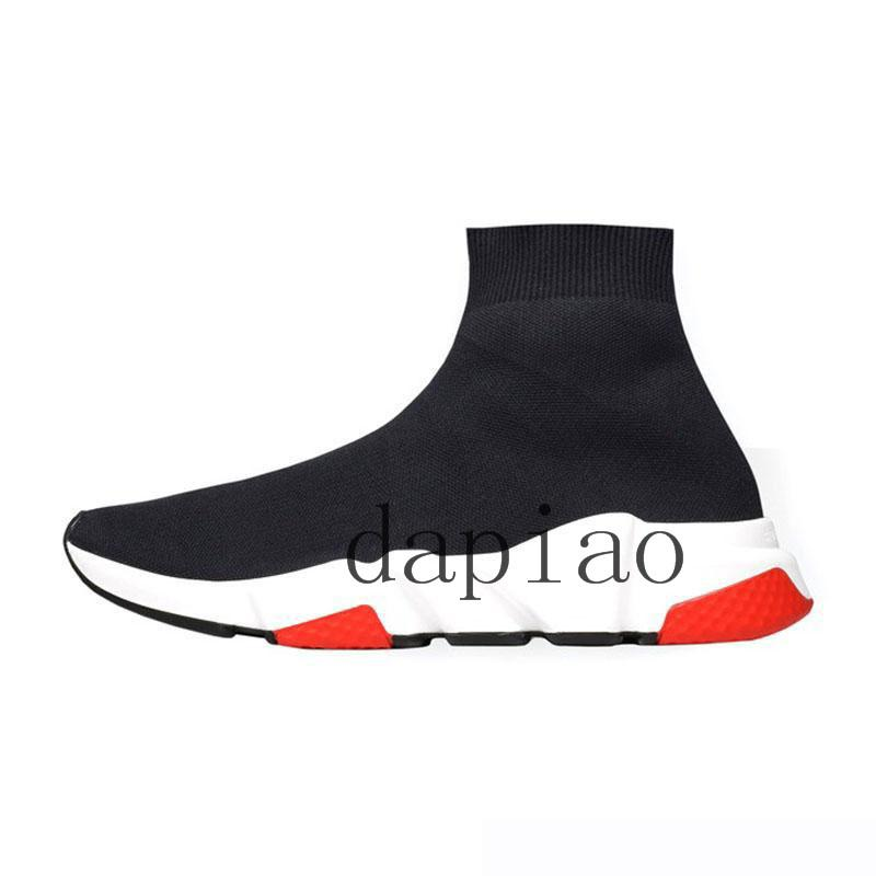 2019 hogh ACE Designer casual sock Shoes Speed Trainer Black Red Triple Black Fashion Socks Sneakers Trainer casual shoes3223#