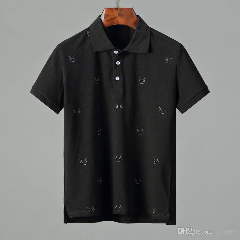 56ee08f264d New Fashion Designer Polos Men Poloshirts Short Sleeve Bee Tiger ...